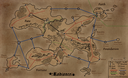 Map created by myself.