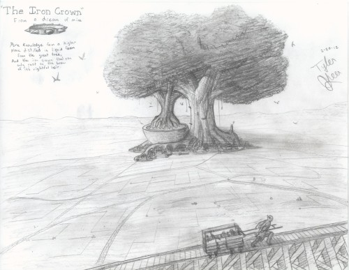A basic sketch based on the dream I had that lead to this story idea