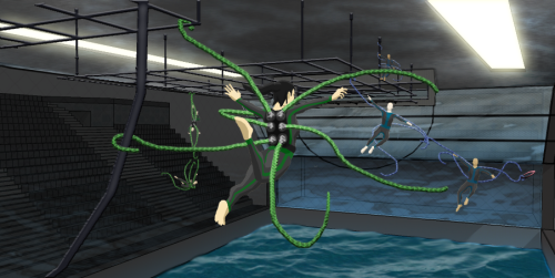 Swing your partner round and round, Spider goalies will abound.